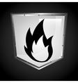 fire shield vector image