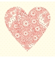 Floral romantic background with flowers vector image