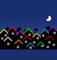 night city with houses vector image
