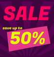 sale poster banner big sale clearance 50 off vector image