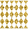 Seamless pattern golden diamonds isolated on white vector image