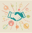 handshake concept business vector image