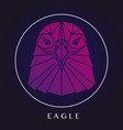 eagle head triangular element logo vector image