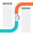website banner and landing page business company vector image