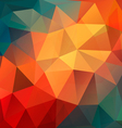 Colorful Polygon abstract background vector image vector image