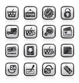 shopping and retail icons vector image vector image