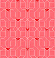 Pattern with Isometric hearts Valentines day vector image