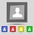 User Person Log in icon sign on the original five vector image