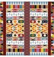 ethnic carpet design vector image