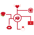 Love Network vector image