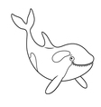 a cute Cartoon killer whale vector image