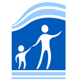 child protect icon vector image