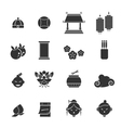 chinese icons set vector image