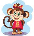Cute Monkey Girl vector image