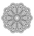 Doodle boho floral motif vector image