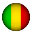Mali flag button vector image