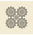 Mandala round ornament Circular oriental vector image