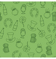 Saint Patricks Day pattern with beer and a pot of vector image