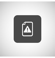 Security warning in browser icon alert bug vector image
