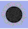 Floral label with round black banner vector image