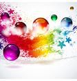 Colorful splash background vector image vector image