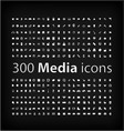 Media Icon set office media mobile icon vector image