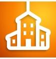House applique background vector image