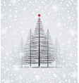 Happy christmas greeting card vector image