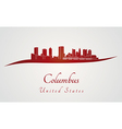 Columbus skyline in red vector image