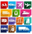 Transport flat icon bright color-09 vector image