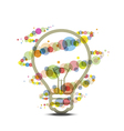 colorful light around lamp vector image vector image