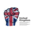 fist the flag of england britain uk vector image vector image