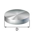Steel disc industrial metal object vector image