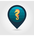 Sea Horse pin map icon Summer Vacation vector image