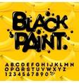 Black oil painted alphabet vector image