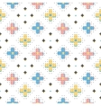 creative seamless pattern trendy geometric vector image