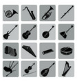 musical instruments icon set folk music signs vector image