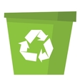 Recycle garbage can vector image