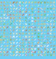 simple modern kids print with crosses minimalist vector image