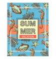 Summer exotic background with fishes sea stars vector image