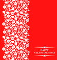 valentine card red vector image