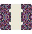 Doodle ornate floral borders vector image