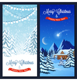 Winter Landscape Vertical Banners vector image