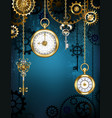 design with clocks and gears vector image