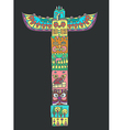 Color Totem pole with animals vector image vector image