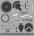 Old greek roman spartan set icons vector image vector image