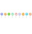 Lollipops horizontal banner vector image