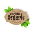Eco Friendly tag Organic vector image