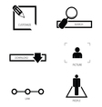 icon set silhouette vector image