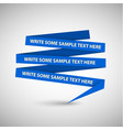 blue speech bubble made from paper vector image